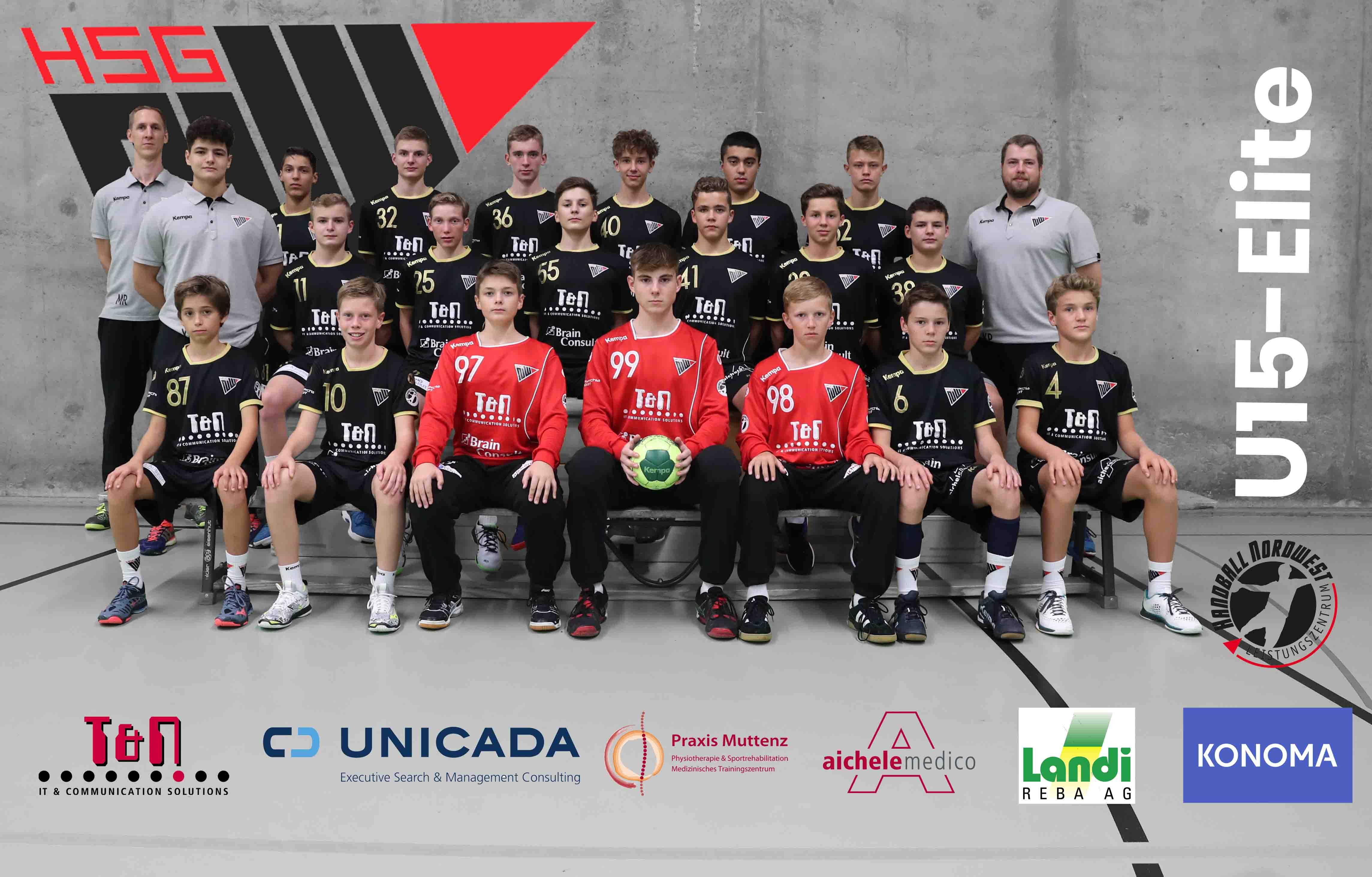 HSG Nordwest MU15 Elite Mannschaftsfoto