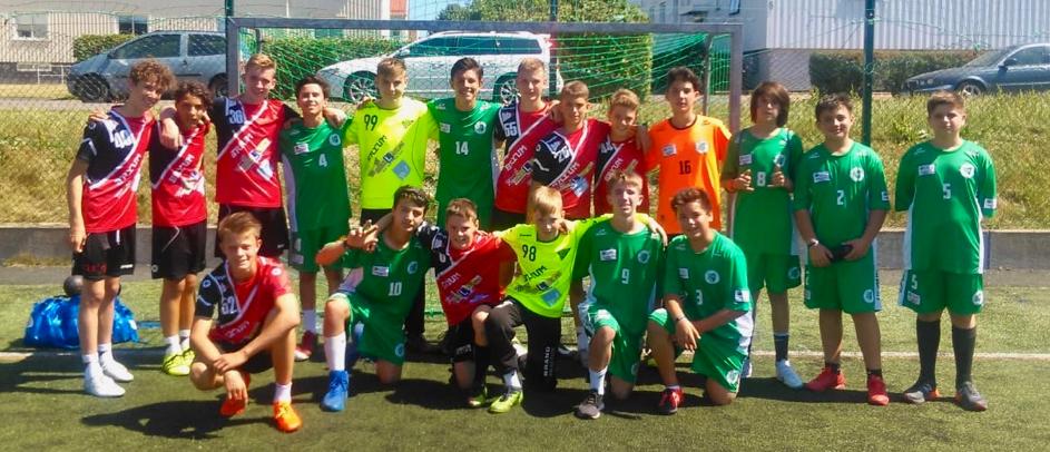 HSG Nordwest U14 mit dem brasilianischen Team Recreio da Juventude