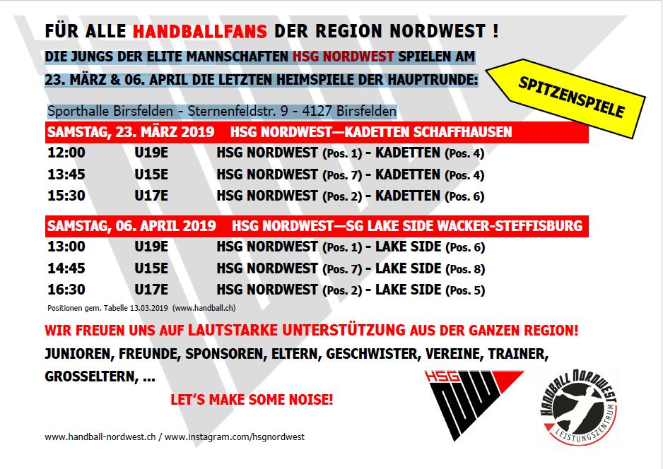 Für alle Handballfans der Region Nordwest! Handball Nordwest-Leistungszentrum