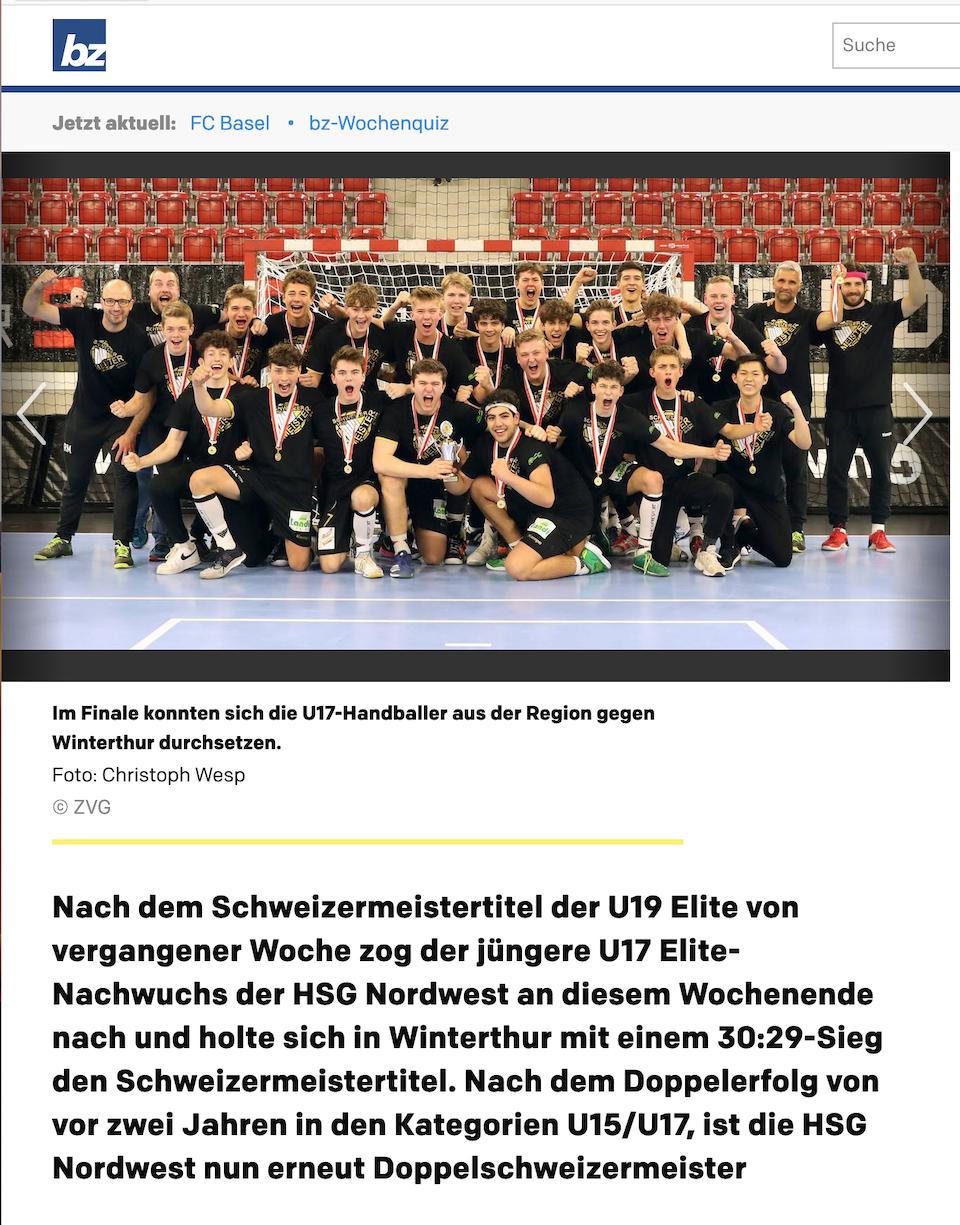 Die HSG Nordwest ist jetzt Doppelschweizermeister