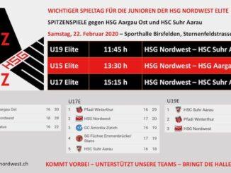 Handball Nordwest - Leistungszentrum. Ich bin dabei! Spitzenspiel nicht verpassen...HSG-Nordwest-HSC-Suhr-Aarau