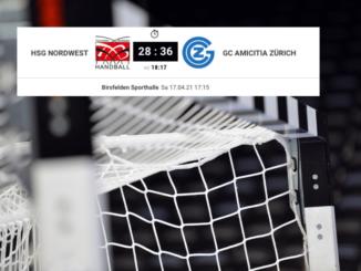 Tittelbild und Endresultat - U19E HSG Nordwest – GC Amicitia Zürich 20/21