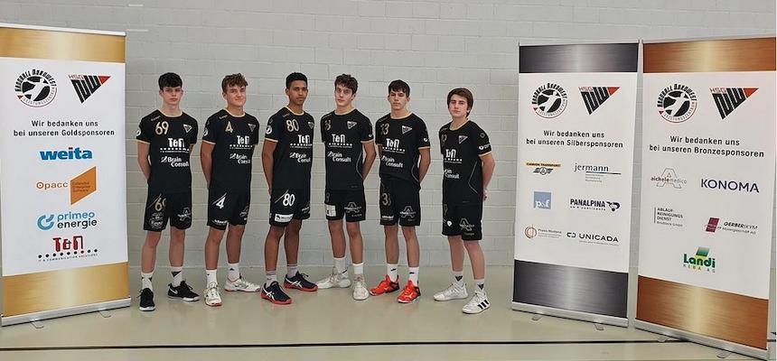 Gruppenbild 6 Junioren für die U17-Nationalmannschaft Förderlehrgang